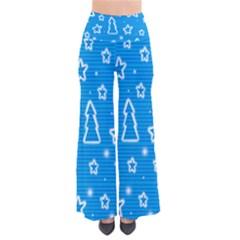 Blue Decorative Xmas Design Pants by Valentinaart