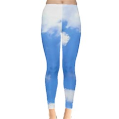 Clouds And Blue Sky Leggings  by picsaspassion