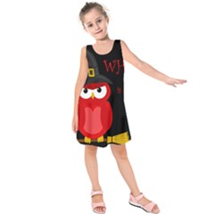 Who Is A Witch?   Red Kids  Sleeveless Dress by Valentinaart