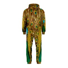 Bird Peacock Feathers Hooded Jumpsuit (kids) by AnjaniArt