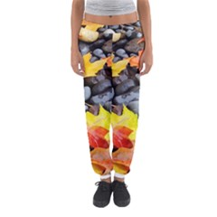 Colorful Leaves Stones Women s Jogger Sweatpants by AnjaniArt