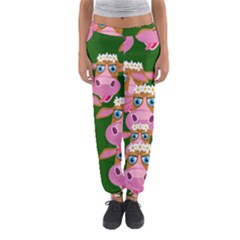 Cow Pattern Women s Jogger Sweatpants
