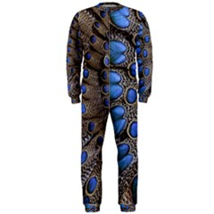 Feathers Peacock Light Onepiece Jumpsuit (men)  by AnjaniArt