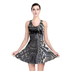 Fractal Art Pattern Reversible Skater Dress
