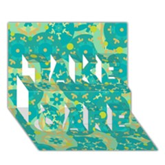 Cyan Design Take Care 3d Greeting Card (7x5) by Valentinaart