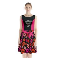 1s Sleeveless Chiffon Waist Tie Dress by Wanni