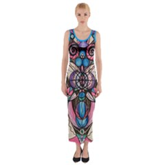 Arcturian Healing Lattice - Fitted Maxi Dress