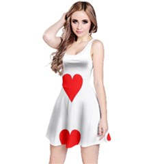 Cart Heart 03 Tre Cuori Reversible Sleeveless Dress by AnjaniArt