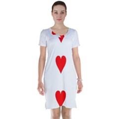 Cart Heart 03 Tre Cuori Short Sleeve Nightdress by AnjaniArt