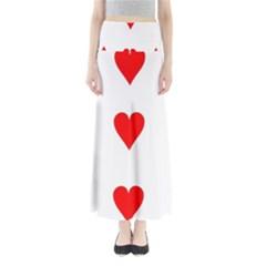 Cart Heart 03 Tre Cuori Maxi Skirts by AnjaniArt