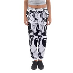Black And White Garden Women s Jogger Sweatpants by Valentinaart