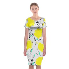 Yellow Roses 2 Classic Short Sleeve Midi Dress by Valentinaart