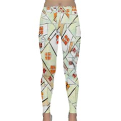 Multicolor Abstract Painting  Classic Yoga Leggings by GabriellaDavid