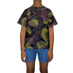 Abstract Garden Kids  Short Sleeve Swimwear by Valentinaart