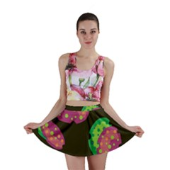 Colorful Leafs Mini Skirt by Valentinaart