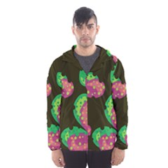 Colorful Leafs Hooded Wind Breaker (men) by Valentinaart