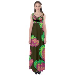Colorful Leafs Empire Waist Maxi Dress by Valentinaart