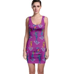 Zombie Pattern Sleeveless Bodycon Dress by AnjaniArt