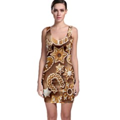 Christmas Cookies Bread Sleeveless Bodycon Dress