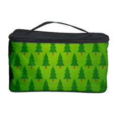 Fire Kindle Wallpaper Christmas Trees Cosmetic Storage Case by AnjaniArt