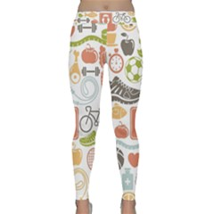 Health Habits Attitudes Hispanic Studied Sport Classic Yoga Leggings by AnjaniArt