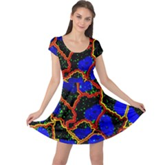 Single Cells Gene Edges Zoomin Color Cap Sleeve Dresses