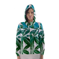 Pachira Leaves  Hooded Wind Breaker (women) by DanaeStudio