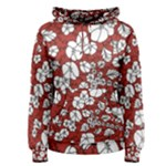 Cvdr0098 Red White Black Flowers Women s Pullover Hoodie