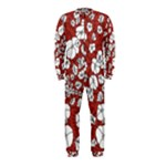 Cvdr0098 Red White Black Flowers OnePiece Jumpsuit (Kids)