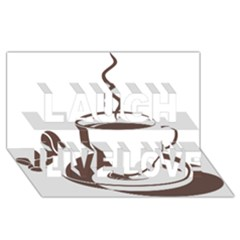 Coffee Beans Laugh Live Love 3d Greeting Card (8x4) by AnjaniArt
