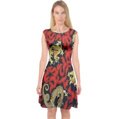 Dragon Capsleeve Midi Dress