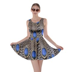 Feathers Peacock Light Skater Dress by AnjaniArt