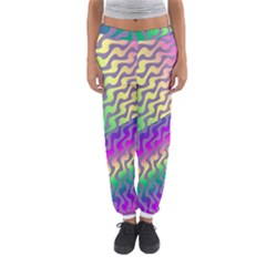 Line Colour Wiggles Women s Jogger Sweatpants by AnjaniArt
