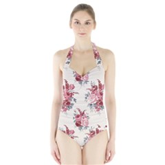 Rose Beauty Flora Halter Swimsuit by AnjaniArt