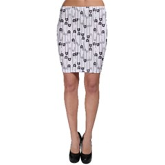 Safety Pin Pattern Bodycon Skirt by Mishacat
