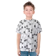 Safety Pin Pattern Kids  Cotton Tee by Mishacat