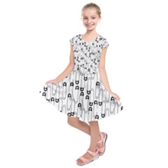 Safety Pin Pattern Kids  Short Sleeve Dress by Mishacat