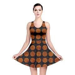 Circles1 Black Marble & Brown Marble Reversible Skater Dress by trendistuff