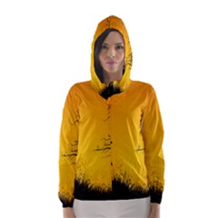 Day Halloween Night Hooded Wind Breaker (women)