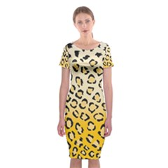 Selina Leopard1 Classic Short Sleeve Midi Dress by Contest580383