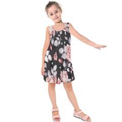 Vintage Flower  Kids  Sleeveless Dress by Brittlevirginclothing