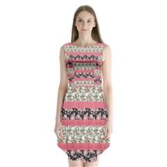 Cute Flower Pattern Sleeveless Chiffon Dress   by Brittlevirginclothing