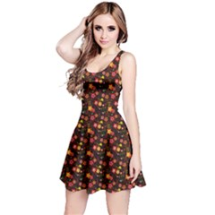 Exotic Colorful Flower Pattern  Reversible Sleeveless Dress by Brittlevirginclothing