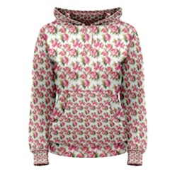 Gorgeous Pink Flower Pattern Women s Pullover Hoodie by Brittlevirginclothing