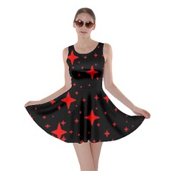 Bright Red Stars In Space Skater Dress by Costasonlineshop
