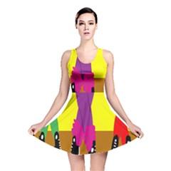 Foot Dance Reversible Skater Dress