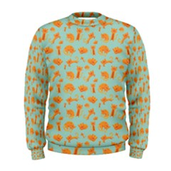 Cute Cat Animals Orange Men s Sweatshirt