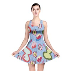 Fruit Apple Reversible Skater Dress by AnjaniArt