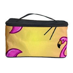 Pink Flamingos Cosmetic Storage Case by AnjaniArt