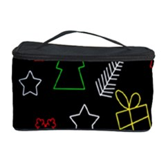 Colorful Xmas Pattern Cosmetic Storage Case by Valentinaart